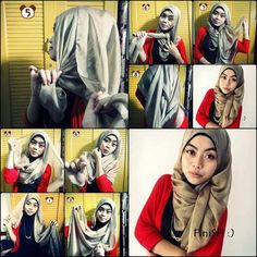 How to Wear Hijab Using Only 1 Pin-Picture Tutorial