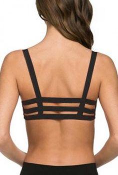 Bralette  https://sincerelysweetboutique.com/clothing/intimates/bralettes.html - #bralette #bra #intimates - Bralette - Freedom in Motion Caged Black Bralette