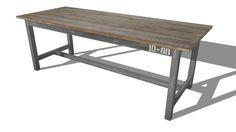 SAILOR, Table de salle à manger en manguier L 220 cm, Maisons du monde, ref : 155641, prix : 599,90 € - 3D Warehouse