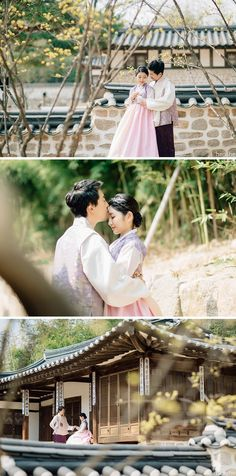 Hanbok photoshoot in Seoul's Namsangol Korean Village