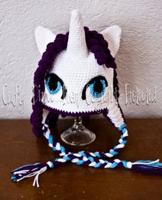 Made to Order Rarity My Little Pony Hat by CraftyDizneeMom on Etsy, $25.00