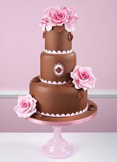 chocolate & roses cake