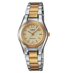 Casio Women's Classic Japan Quartz Two-tone Band Gold tone Dial