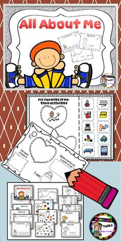 Back to school activity sheets especially designed for new class members to fill in and share information about themselves.