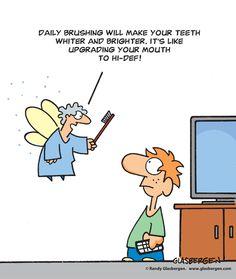 Cartoon ID: dental5 Randy Glasbergen