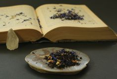 Blue Baron organic Earl Grey tea blend by Blackquartz Alchemy.