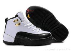 timeless design 32727 681c4 la Collection des Air Jordan Enfant 12 Retro Noir Blanc pas cher,Livraison  Gratuite Officiel Jordan