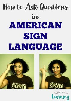 Learn how to ask questions in sign language with this simple ASL video lesson! Easy enough for kids too!