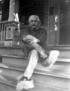 Albert Einstein's digital archives: Nobel laureate Albert Einstein on the front steps of his Princeton home.
