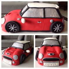 Mini Cooper cake topper (rice crispies and gumpaste) Car Cake Toppers, Wedding Cake Toppers, Wedding Cakes, Mini Cakes, Cupcake Cakes, Car Cakes, Mini Cooper Cake, Rice Crispy Treats, Novelty Cakes