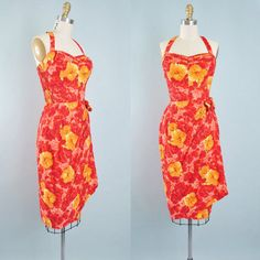 Vintage 50s 60s HAWAIIAN Wiggle Dress / SARONG by GeronimoVintage
