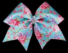 Floral Cheer Bow vintage cheer bow cheer bows by OnceUponATwincess