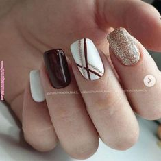 Bridal Nail Art Designs for Women in 2020 - Bridal Nail Art Designs f. Bridal Nail Art Designs for Women in 2020 - Bridal Nail Art Designs for Women in 2020 - Square Nail Designs, Acrylic Nail Designs, Cute Nail Designs, Fall Nail Art Designs, Shellac Nail Designs, Burgundy Nail Designs, Burgundy Nail Art, Nail Stamping Designs, Red And White Nails