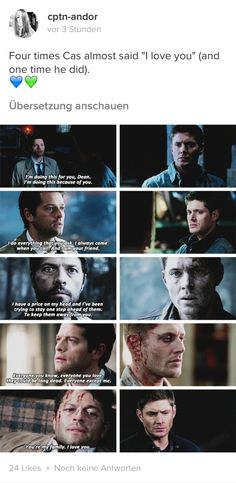 "if only dean had the balls to say, ""i love you too."" THEN KISS>>> YES"