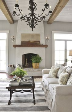 Newest Photographs stucco Fireplace Makeover Style – farmhouse decor Stucco Fireplace, Home Fireplace, Fireplace Design, Fireplace Ideas, Cast Stone Fireplace, Hearth Stone, Fireplace Makeovers, Country Fireplace, Cottage Fireplace