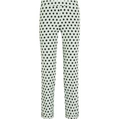 Rochas Polka-dot twill straight-leg pants ($825) ❤ liked on Polyvore