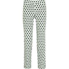 Rochas Polka-dot twill straight-leg pants ($825) ❤ liked on Polyvore