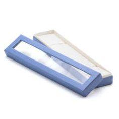 Darčeková krabička na šperk modrá 205x47x31mm