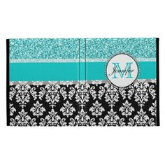 Girly, Teal, Glitter Black Damask Personalized iPad Folio Case in each seller & make purchase online for cheap. Choose the best price and best promotion as you thing Secure Checkout you can trust Buy bestThis Deals          Girly, Teal, Glitter Black Damask Personalized iPad Folio Ca...