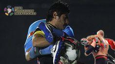 Copa Libertadores: insólita imagen de lucha libre en partido de octavos de final (VIDEO) #Depor