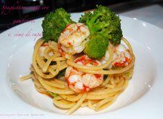 Spaghettone matt con gamberoni e cime di rapa: strepitoso!!