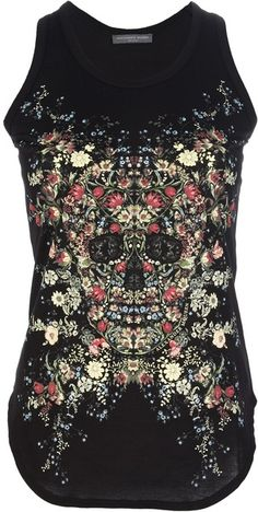 Alexander Mcqueen Floral Printed Vest | The House of Beccaria~