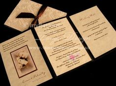 Vintage wedding invitation with age look paper and sepia photo by www.tangodesign.com.au #vintage #wedding #invitations