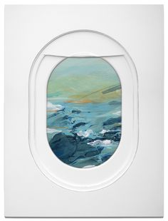"culturenlifestyle: "" Beautiful Paintings of Airplane Windows Perspective as Frames Los Angeles-based artist and designer Jim Darling developed a new found love for scenes seen from the airplane window while working on an art show that revolves around..."