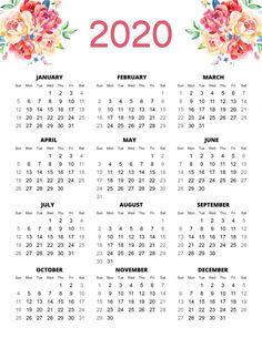 Free Printable 2020 Planner 50 Plus Printable Pages!!! - The Cottage Market Printable Calendar 2020, Printable Planner Pages, Yearly Calendar, Meal Planning Printable, Calendar Templates, Blank Calendar, Print Calendar, Christmas Gift Tags Printable, Free Christmas Printables