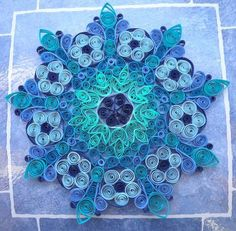 Quilled Kolam - PAPER CRAFTS, SCRAPBOOKING & ATCs (ARTIST TRADING CARDS)