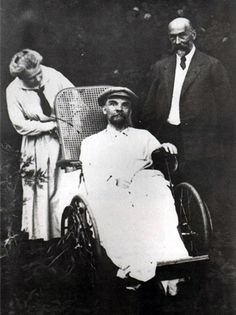 Vladimir Lenin's Last Photo:  Taken in Gorki after May 15th, 1923. He had had three strokes at this point and was completely mute.