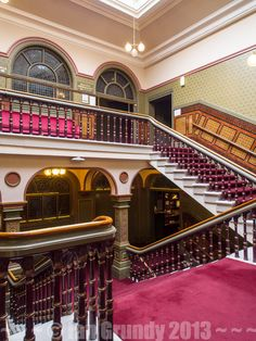 leeds grand theatre staircase - Google Search Victoria Hall, Leeds, Theatre, Stairs, Google Search, Home Decor, Stairway, Decoration Home, Room Decor
