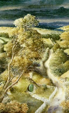 Alan Lee's Lord of the Rings Artwork / Bag End, Hobbiton, The Shire....