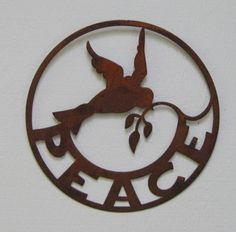 Check Out Sturbridge Yankee Workshops Dove of Peace Sign Metal Wall Art, Framed Wall Art, Wall Art Decor, Wall Art Prints, Give Peace A Chance, Antique Signs, Metal Signs, Wall Signs, Peace And Love
