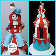 Custom Specialty Cakes and Cupcakes NJ - Circus Birthday Cake - Blue Sheep Bake Shop - Cupcakes, Wedding Cake, Birthday Cake, Shower Cakes Adult Birthday Cakes, 40th Birthday Cakes, Circus Birthday, Clown Cake, Carnival Cakes, Teen Cakes, Quinceanera Cakes, Sweet 16 Cakes, Specialty Cakes