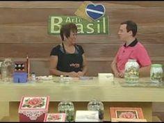 ARTE BRASIL -- MAMIKO YAMASHITA -- DÉCOUPAGE E CRAQUELÊ EM VIDRO (15/03/...
