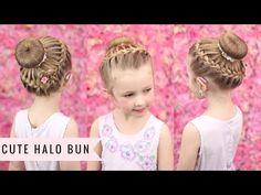 Super Cute Halo Bun by SweetHearts Hair - YouTube