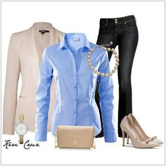 CHATA'S DAILY TIP: We love that jeans can look elegant, yet casual. Wearing a tailored jacket with a beautiful shirt and smart denims on Friday is work-wear perfection. The shirt can be tucked into the jeans, worn with an interesting belt, or over the jeans to hide any figure concerns. COPY CREDIT: Chata Romano Image Consultant, Liza Spammer http://chataromano.com/consultant/liza-spammer/ IMAGE CREDIT: Pinterest #chataromano #imageconsultant #colour #style #fashion
