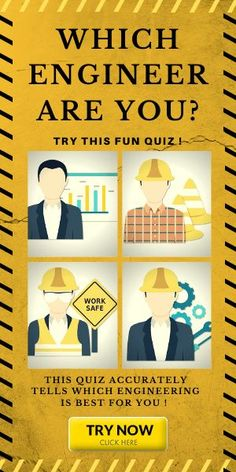 This quiz can tell your ENGINEERING FIELD !   TRY NOW !