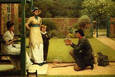 The Goldfish Seller. George Dunlop Leslie (1835 – 1921). He was an English genre painter, author and illustrator.
