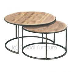 The Nora side table-coffee table set round wood metal, is super contemporary and robust. The table top is nicely lacquered. Kitchen Decor, Decor, Side Table, Table, Wood And Metal, Global Home Decor Style, Coffee Table, Home Decor Styles, Coffee Table Setting