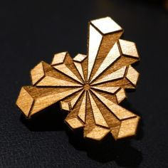 3D Crystal Starburst - Wooden Hat Pin
