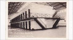 "RP; ""STONES""    - Old Cell Block , Folsom State Prison , California , 1920-30s"