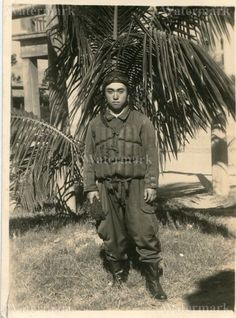 ORIGINAL WWII JAPANESE PHOTO: NAVY AIR FORCE FIGHTER PILOT, PACIFIC WAR!!!