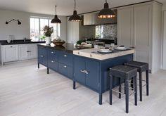 Transitional Kitchen by Mowlem & Co - Love the tarnished mirror tile splashback