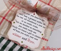 Washcloth Gift Idea for Christmas.The cute poem on these ...