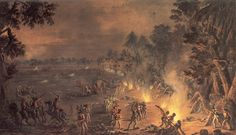 The 2nd Light Infantry (with Ferguson's Rifles) in the attack on Wayne's camp near the Paoli Tavern September 20, 1777 Xavier della Gatta ca. 1783