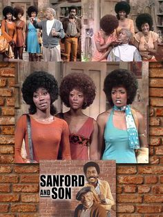 """October 5, 1973 — Sanford and Son starring Redd Foxx & Demond Wilson — Season 3, Episode 4: The Three Degrees are the Sanford's house-guests. They performed I Didn't Know (hear it in my board, """"My Music: The Girls"""")"""