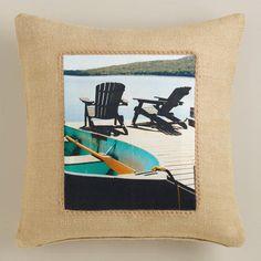 One of my favorite discoveries at WorldMarket.com: Adirondack Photo Throw Pillow
