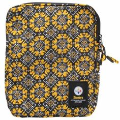 Pittsburgh Steelers Fabric Tablet Case Go Steelers, Pittsburgh Steelers, Office And School Supplies, Office Accessories, Saddle Bags, Home Goods, Fabric, Products, Tejido